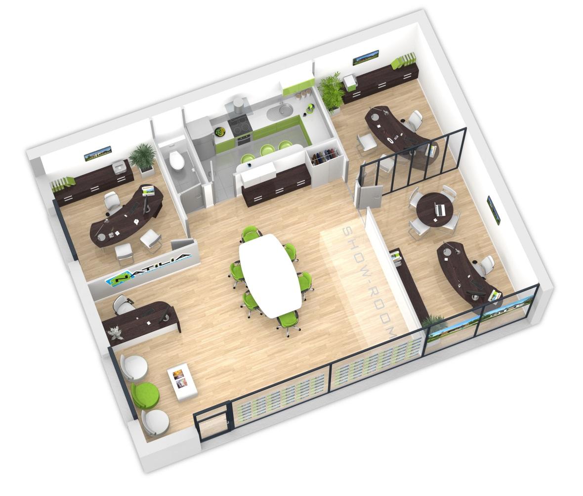 Les agences en franchise natilia for Plan de maison interieur
