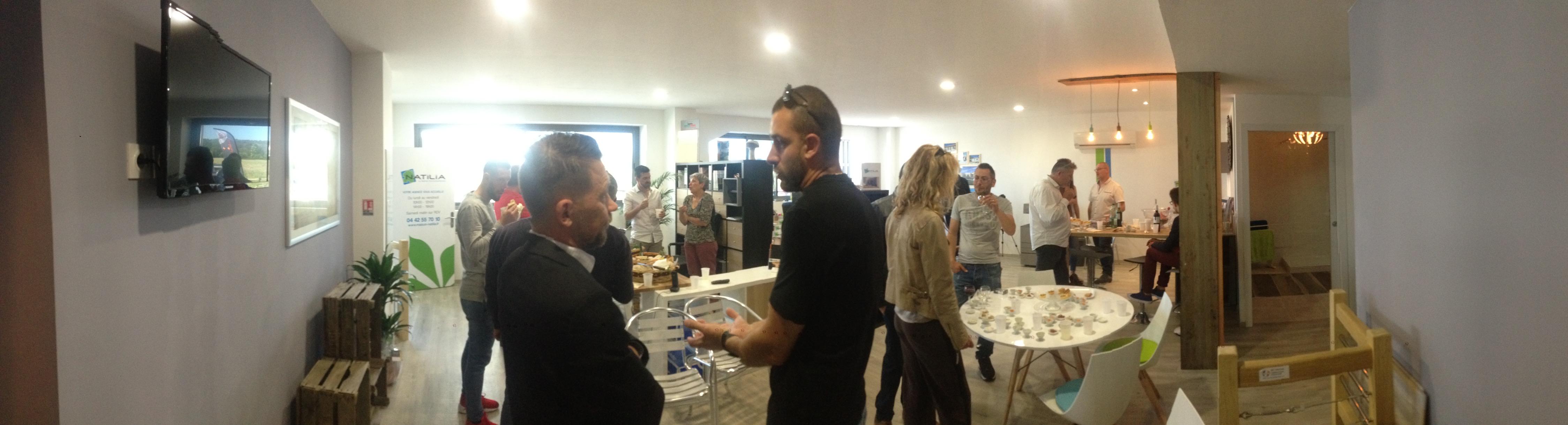 inauguration de l agence natilia salon de provence franchise natilia. Black Bedroom Furniture Sets. Home Design Ideas